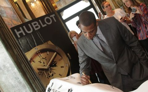 The famous rapper Jay-Z has just launched two limited edition watches for the Swiss Hublot.  Jay-Z partnership with Hublot creates new limited edition watch Jay Z Hublot partnership launch signing  480x300