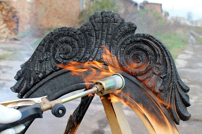 """""""Who would have ever guessed that partially burned wood pieces could deliver furniture that is beyond stylish?"""" producing furniture New way of producing furniture: Burning Yaroslav Galant 4"""