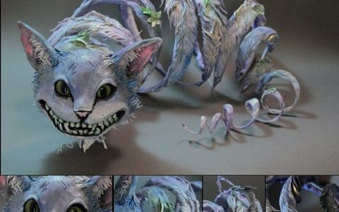 """To Ellen, sculpting has always been about life; biological narratives, emotions, movement, balance and observations about life's subtleties and overtures."" Ellen Jewett Ellen Jewett unique sculptures cheshire cat 480x300"