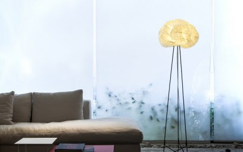 """Have another look to what we can do with fabrics, so different shapes, too much interesting stuff to create. Mika Barr just took this materials to create surprising designs. "" mika barr Exclusive interview with Mika Barr Ori floor lamp by producks and mikabarr image yoav gurin 480x300"