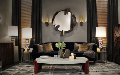 Round mirror: 10 ideas and styles modern decor with a brass round mirror1 480x300