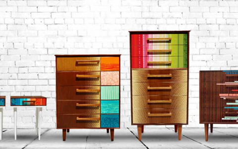 """Zoe Murphy have always been fascinated by the potential of re-use and rejuvenation of unwanted items""  Zoe Murphy colorful vintage furniture Zoe Murphy colorful vintage furniture i lobo you2 480x300"