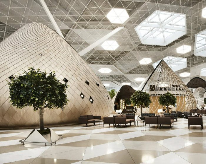 The Futuristic Terminal of Baku's Heydar Aliyev International Airport  cover7 700x560