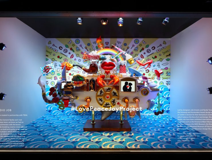 Barneys New York, the luxury specialty retailer, announces the launch of its 2016 holiday: Love Peace Joy Project, in association with many renowned designers. Barneys Barneys New York Madison Avenue Holiday Window Barneys New York Madison Avenue Holiday Window I Lobo you 740x560