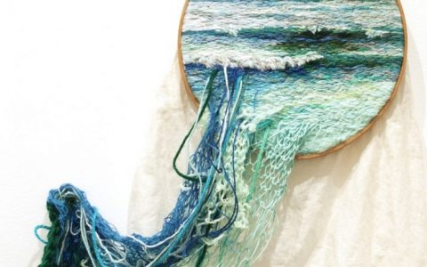Using embroidery, yarn, and wool artist Ana Teresa Barboza creates textile art with landscapes and other imagery. textile art Textile art by Ana Teresa Barboza Textile art by Ana Teresa Barboza artists I Lobo you4 480x300