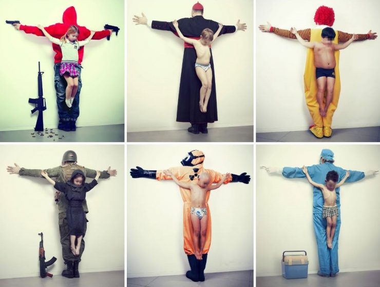 "Los Intocables, a work by Erik Ravelo is one of the art installations topping the Controversial art list of all time. It ""touches"" too sensitive questions. controversial art Controversial Art: Los Intocables by Erik Ravelo Controversial art Los Intocables by Erik Ravelo artists I Lobo you 740x560"
