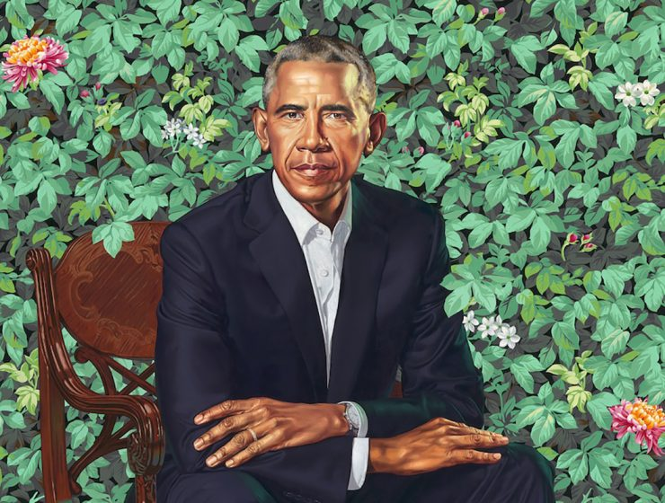 obama's portrait Kehinde Wiley: The Artist Who Painted The Obama's Portrait Barack Obama by Kehinde Wiley c 740x560