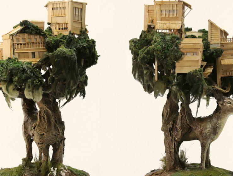 Stone Sculptures Stone Sculptures Of Houses In The Back Of Animals By Song Kang fffffffffffffff 740x560