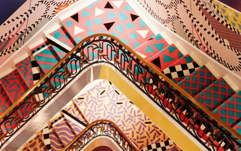 stair art Sasha Bikoff's Bold Stair Art feature 9 480x300