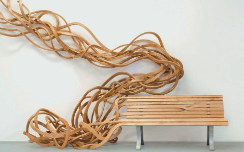 modern art Reinoso's Spaghetti Bench: Modern Art That Explores The Use of Wood Reinoso   s Spaghetti Bench Art That Explores The Use of Wood feature 480x300
