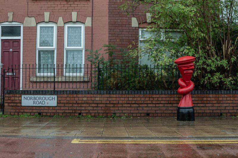 Alex Chinneck Installs 'Knotted' Post Boxes Across The UK alex chinneck Alex Chinneck Installs 'Knotted' Post Boxes Across The UK Chinneck Installs Knotted Post Boxes Across The UK 10