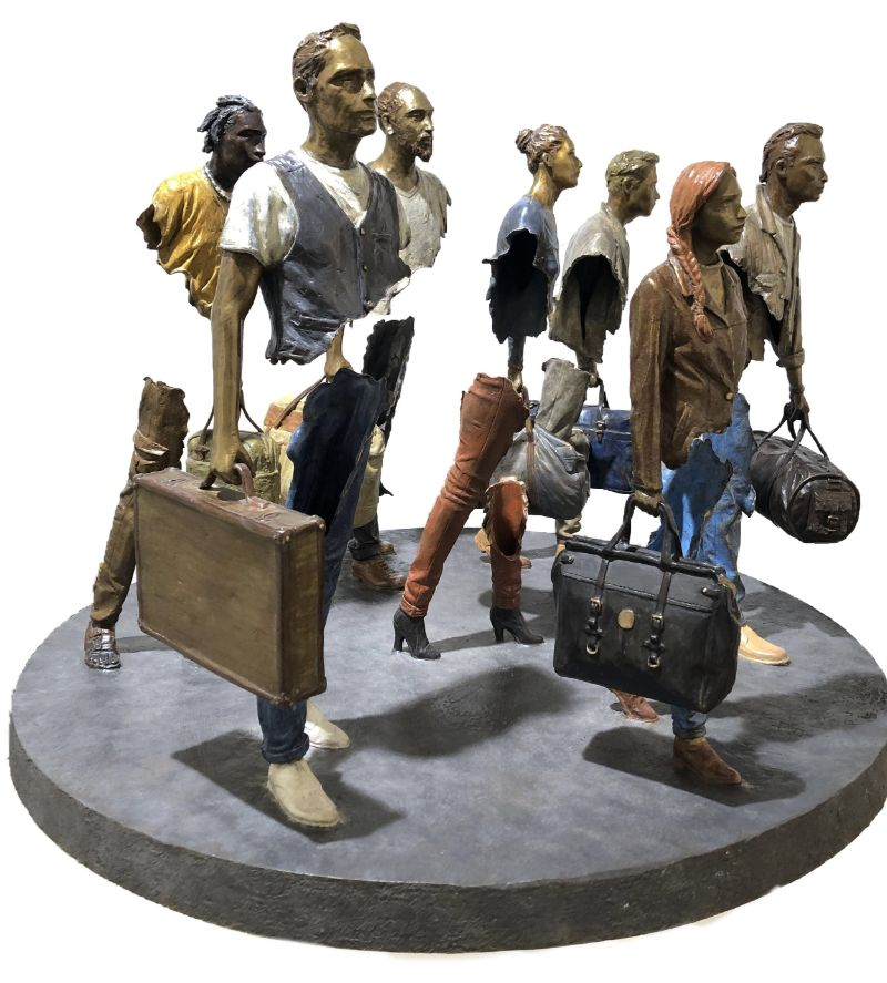 Incomplete' Art Sculptures of Travelers by Bruno Catalano art sculptures 'Incomplete' Art Sculptures of Travelers by Bruno Catalano Incomplete Sculptures of Travelers by Bruno Catalano 10