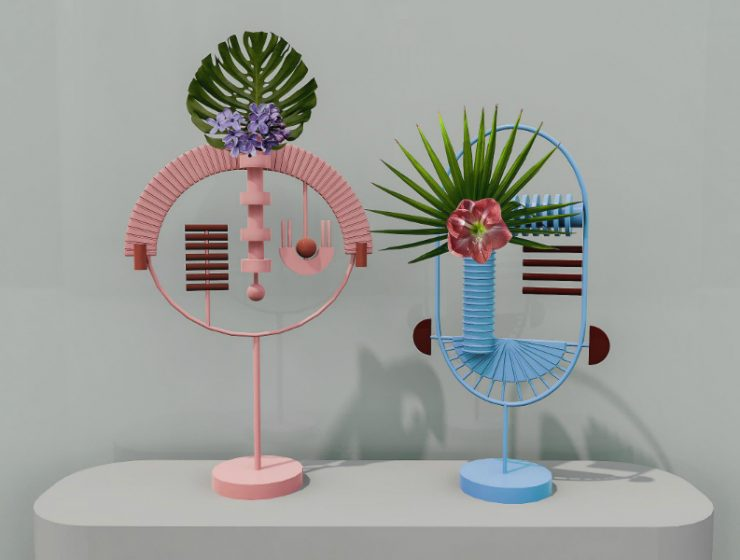 masquespacio Masquespacio's Vases and Mirrors Inspired by Pre-Historic Masques feature 2 740x560