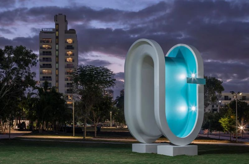 A Bent Pool Art Sculpture Serves As Landmark During Miami Art Week 2019 art sculpture A Bent Pool Art Sculpture Serves As Landmark During Miami Art Week 2019 A Bent Pool Sculpture Serves As Landmark During Miami Art Week 2019 6