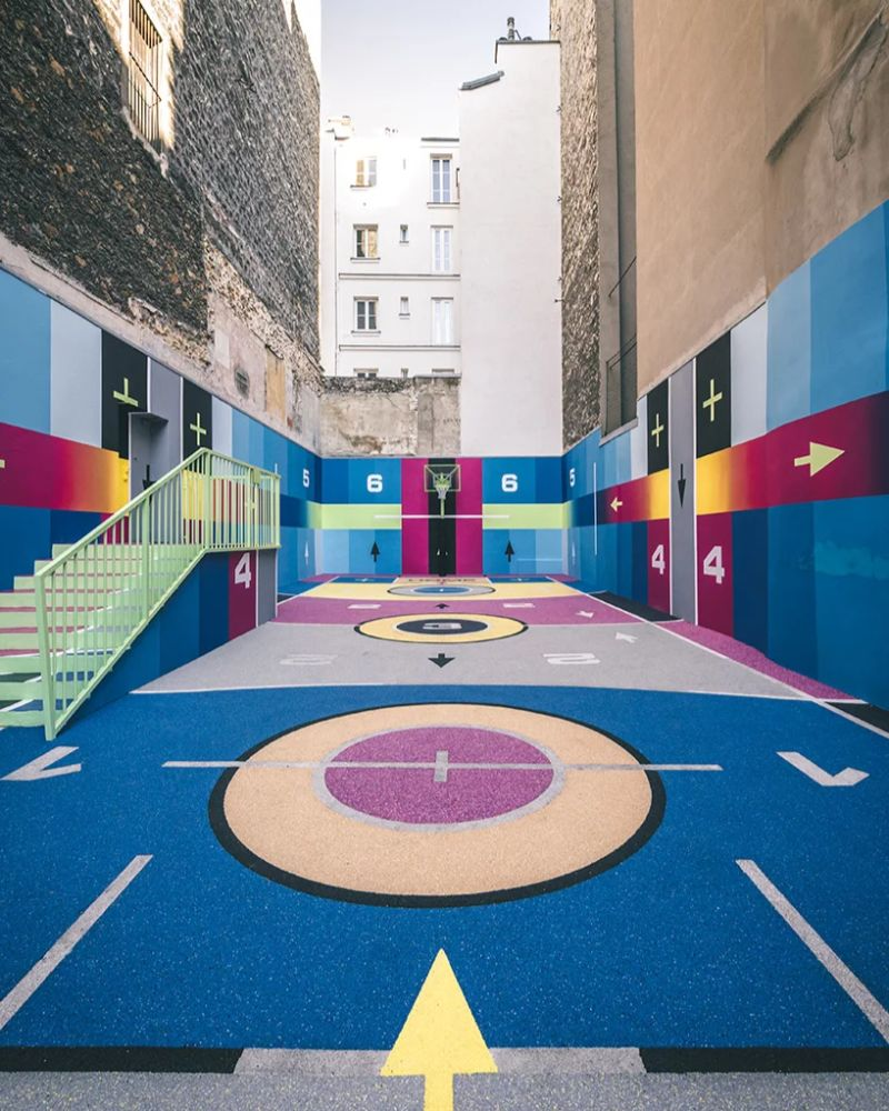 Modern Art Around Paris - The Famous Pigalle Basketball Gets Renovated modern art Modern Art Around Paris – The Famous Pigalle Basketball Gets Renovated Art Around Paris The Famous Pigalle Basketball Gets Renovated 3