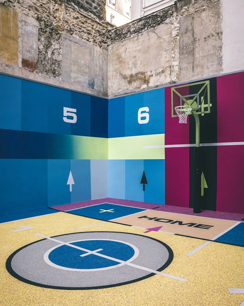 Modern Art Around Paris - The Famous Pigalle Basketball Gets Renovated modern art Modern Art Around Paris – The Famous Pigalle Basketball Gets Renovated Art Around Paris The Famous Pigalle Basketball Gets Renovated 8