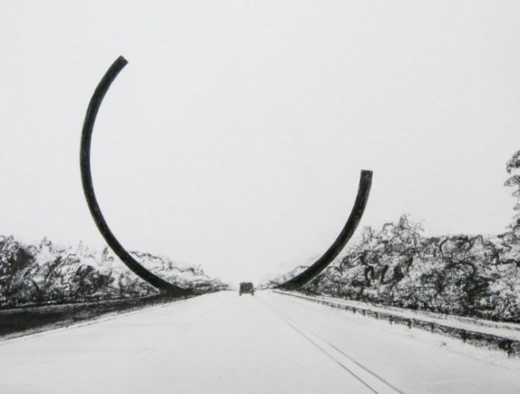 art sculpture Bernar Venet Frames Belgian Motorway With A New Modern Art Sculpture BernarVenet Frames Belgian Motorway With A New Modern Art Sculpture feature 740x560 homepage Homepage BernarVenet Frames Belgian Motorway With A New Modern Art Sculpture feature 740x560