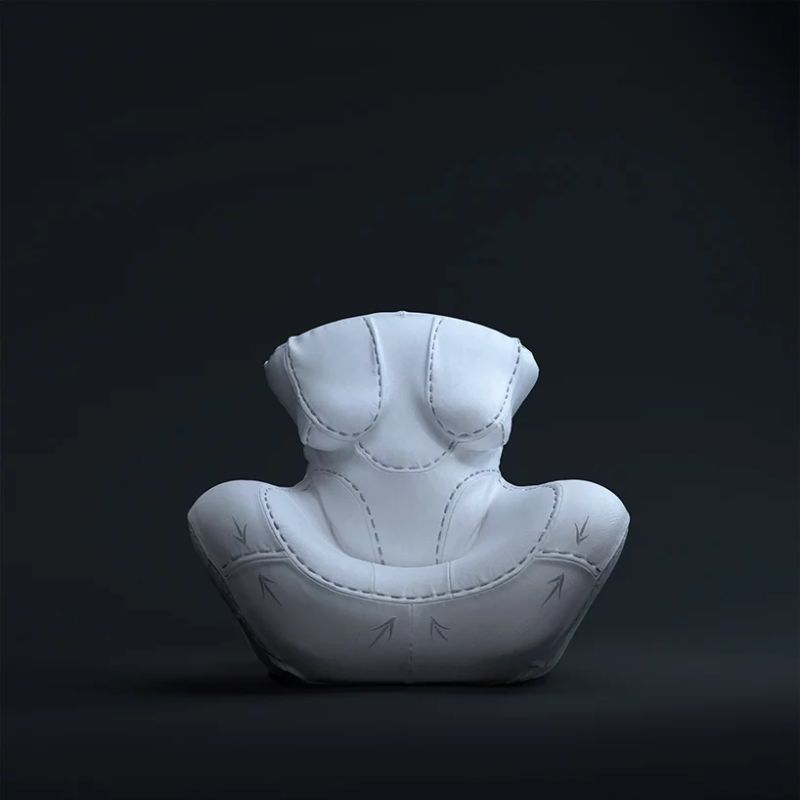 "Gaetano Pesce's Famous Armchair Goes Through A ""Plastic Surgery"" gaetano pesce Gaetano Pesce Puts Its Furniture Design ""Under The Knife"" GaetanoPesces Famous Armchair Goes Through A Plastic Surgery 8"
