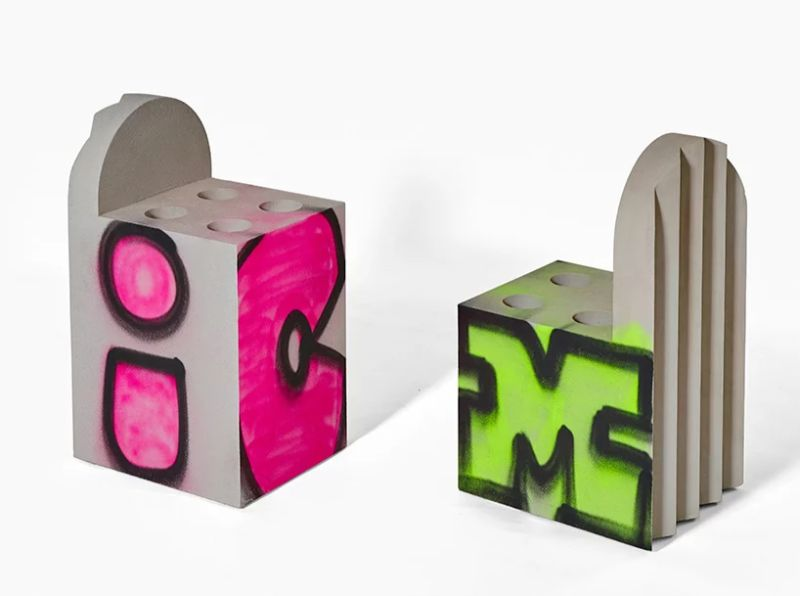 Virgil Abloh Brings To Galerie Kreo A Graffiti-Sprayed Art Furniture virgil abloh Virgil Abloh Brings To Galerie Kreo A Graffiti-Sprayed Art Furniture VirgilAbloh Brings To GalerieKreo A Graffiti Sprayed Art Furniture 12
