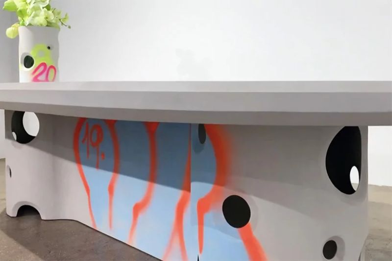 Virgil Abloh Brings To Galerie Kreo A Graffiti-Sprayed Art Furniture virgil abloh Virgil Abloh Brings To Galerie Kreo A Graffiti-Sprayed Art Furniture VirgilAbloh Brings To GalerieKreo A Graffiti Sprayed Art Furniture 5