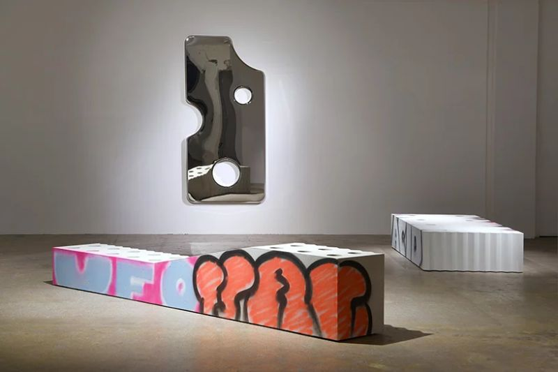 Virgil Abloh Brings To Galerie Kreo A Graffiti-Sprayed Art Furniture virgil abloh Virgil Abloh Brings To Galerie Kreo A Graffiti-Sprayed Art Furniture VirgilAbloh Brings To GalerieKreo A Graffiti Sprayed Art Furniture 6