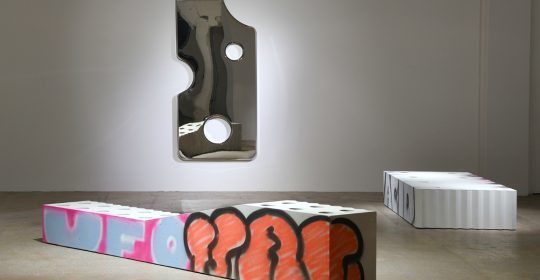 virgil abloh Virgil Abloh Brings To Galerie Kreo A Graffiti-Sprayed Art Furniture feature 8 540x280 homepage Homepage feature 8 540x280