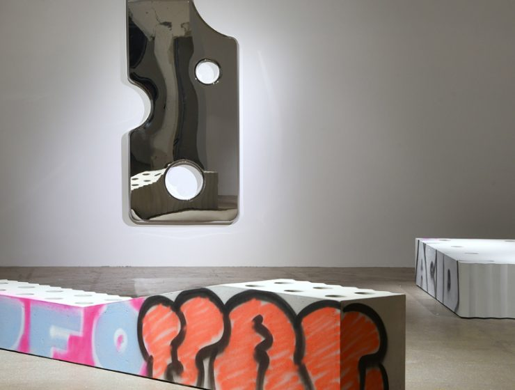 virgil abloh Virgil Abloh Brings To Galerie Kreo A Graffiti-Sprayed Art Furniture feature 8 740x560