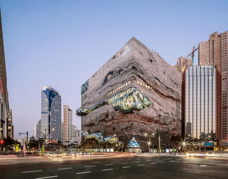 Architecture Art That Resembles A Gem Coming Out of Stone architectural art Architectural Art That Is Shaped Like a Diamond Architecture That Resembles A Gem Coming Out of Stone 3