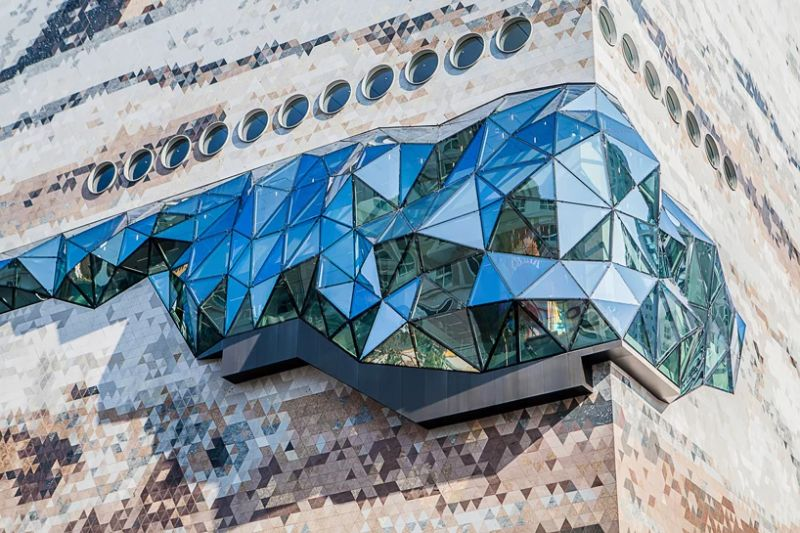 Architecture Art That Resembles A Gem Coming Out of Stone architectural art Architectural Art That Is Shaped Like a Diamond Architecture That Resembles A Gem Coming Out of Stone 4