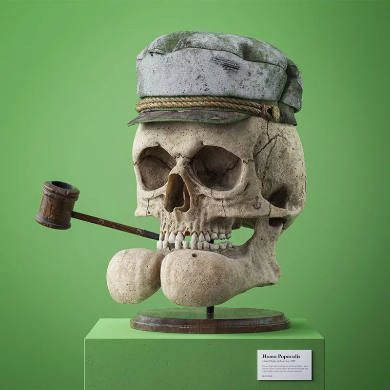 Filip Hodas Imagines Cartoon Characters' Skulls On His Modern Art modern art Filip Hodas Imagines Cartoon Characters' Skulls On His Modern Art Filip Hodas Imagines Cartoon Characters Skulls On His Art 7