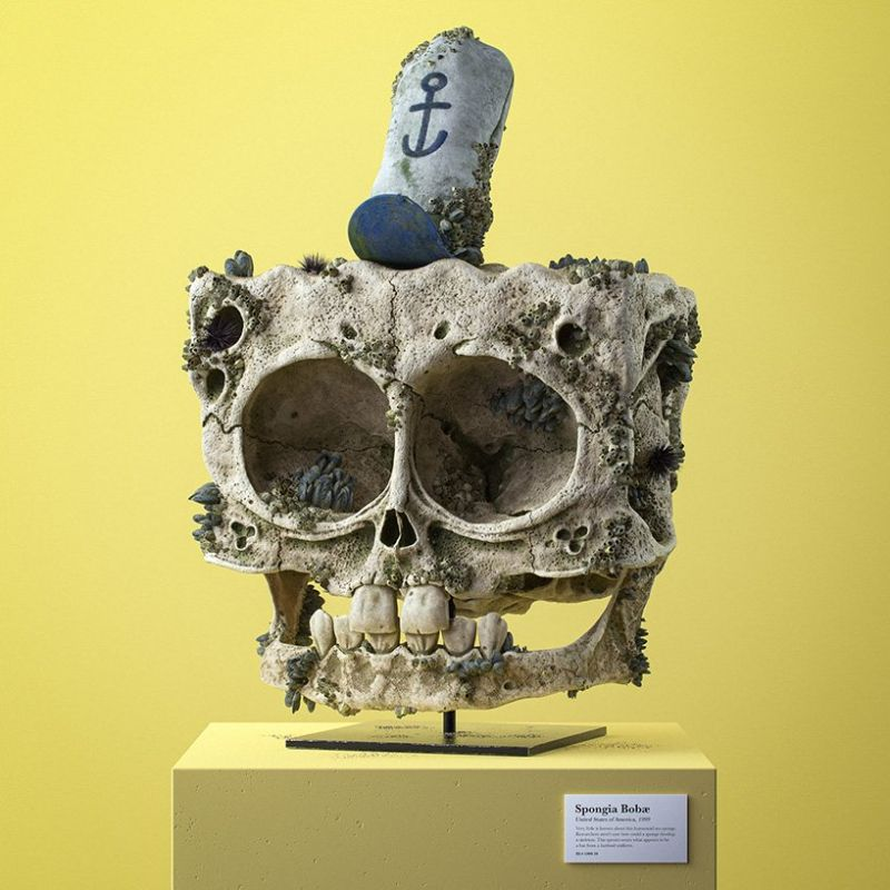 Filip Hodas Imagines Cartoon Characters' Skulls On His Modern Art modern art Filip Hodas Imagines Cartoon Characters' Skulls On His Modern Art Filip Hodas Imagines Cartoon Characters Skulls On His Art