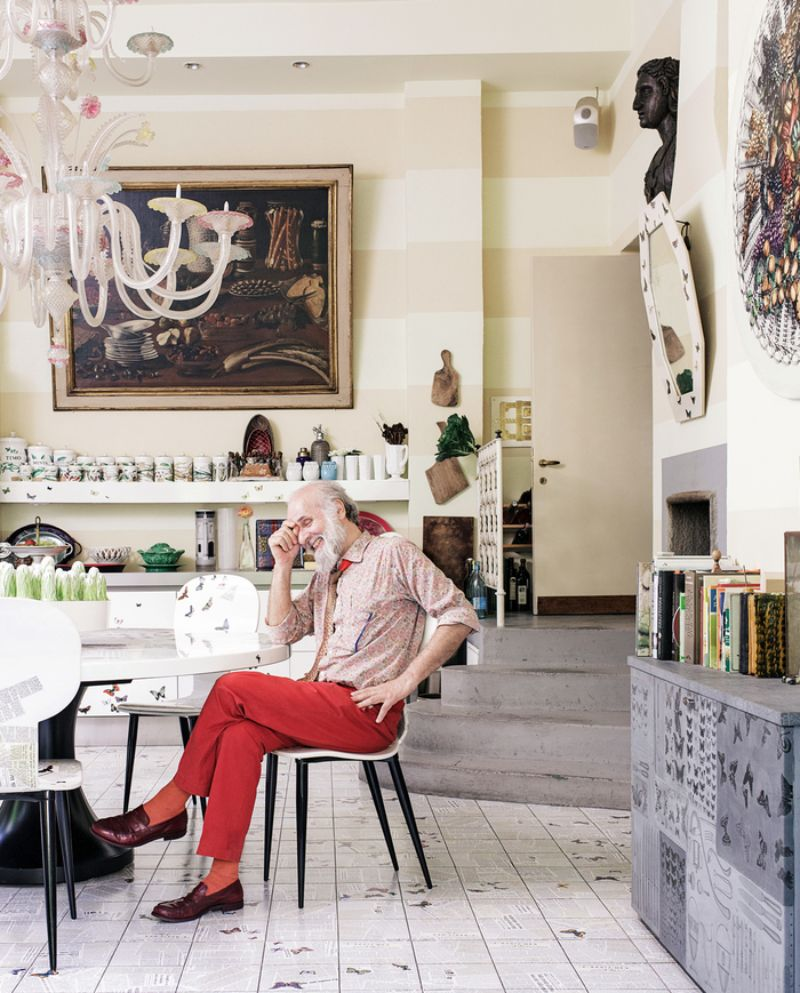 Piero Fornasetti's Home in Milan in An Homage to The Design Genius piero fornasetti Piero Fornasetti's Home in Milan is An Homage to The Design Genius Fornasettis Home in Milan in An Homage to The Design Genius 2