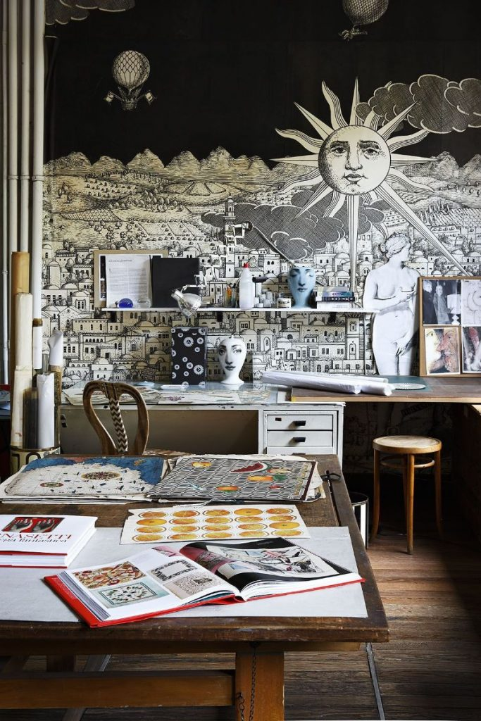 Piero Fornasetti's Home in Milan in An Homage to The Design Genius piero fornasetti Piero Fornasetti's Home in Milan is An Homage to The Design Genius Fornasettis Home in Milan in An Homage to The Design Genius 8 683x1024