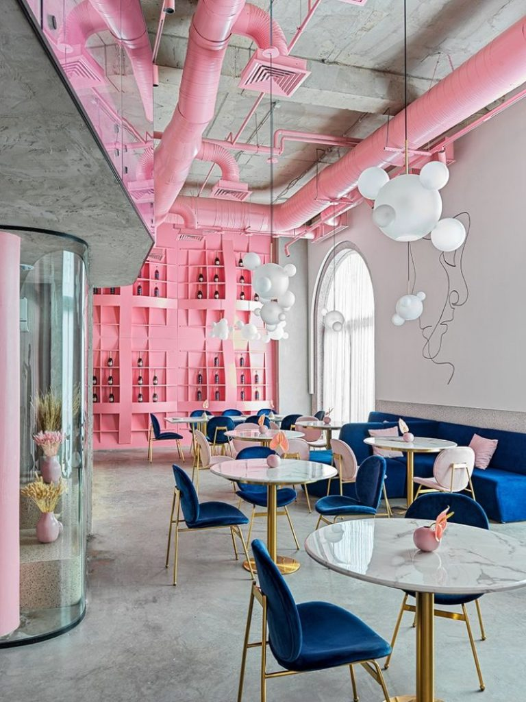 Dive Into A Pastel Pink World At The 'Dijon' Modern Restaurant modern restaurant Dive Into A Pastel Pink World At The 'Dijon' Modern Restaurant Dive Into A Pastel Pink World At The Dijon Modern Restaurant 2 768x1024