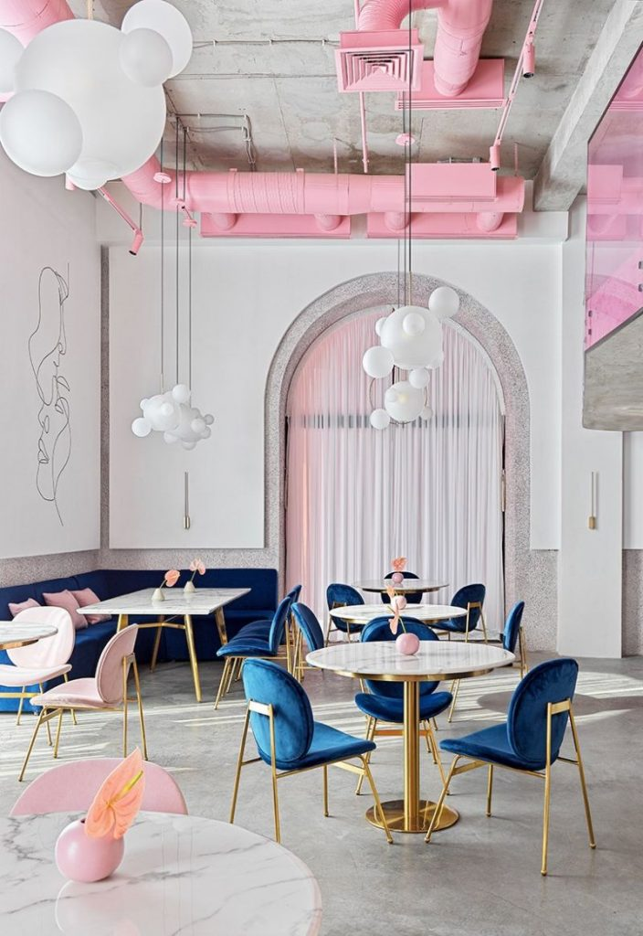 Dive Into A Pastel Pink World At The 'Dijon' Modern Restaurant modern restaurant Dive Into A Pastel Pink World At The 'Dijon' Modern Restaurant Dive Into A Pastel Pink World At The Dijon Modern Restaurant 3 704x1024