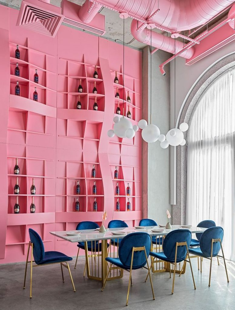 Dive Into A Pastel Pink World At The 'Dijon' Modern Restaurant modern restaurant Dive Into A Pastel Pink World At The 'Dijon' Modern Restaurant Dive Into A Pastel Pink World At The Dijon Modern Restaurant 4 776x1024