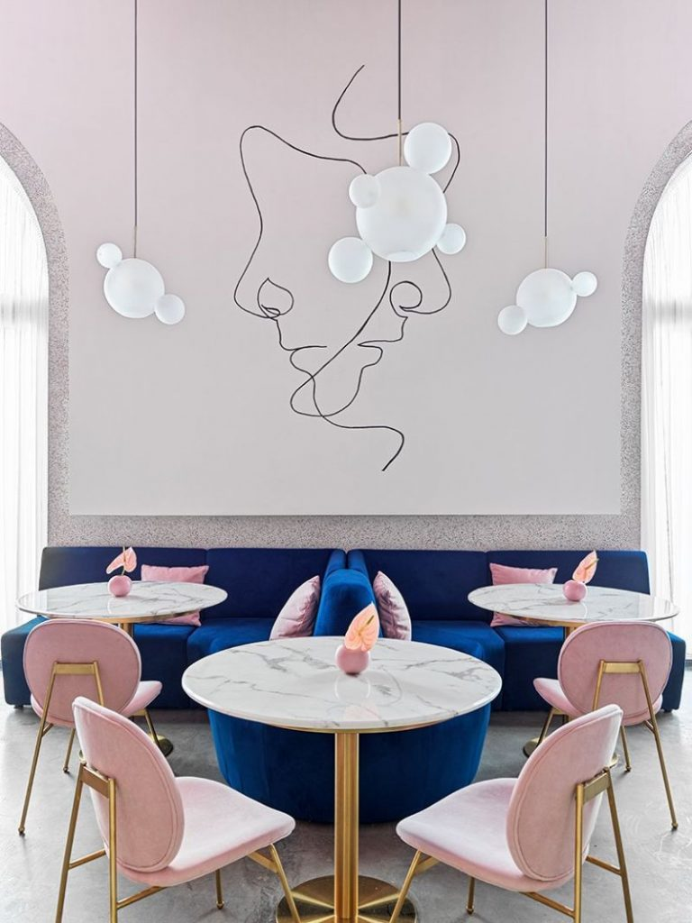 Dive Into A Pastel Pink World At The 'Dijon' Modern Restaurant modern restaurant Dive Into A Pastel Pink World At The 'Dijon' Modern Restaurant Dive Into A Pastel Pink World At The Dijon Modern Restaurant 5 768x1024