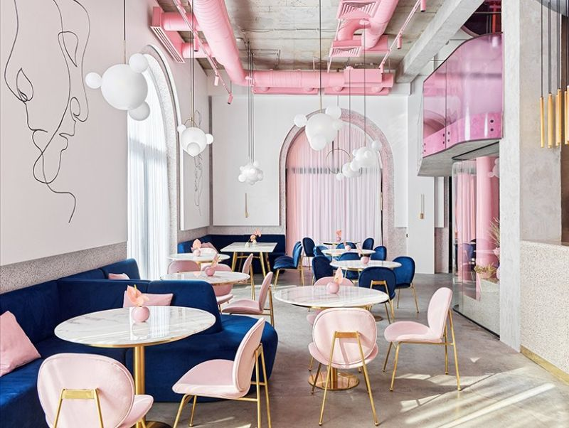 Dive Into A Pastel Pink World At The 'Dijon' Modern Restaurant modern restaurant Dive Into A Pastel Pink World At The 'Dijon' Modern Restaurant Dive Into A Pastel Pink World At The Dijon Modern Restaurant 6