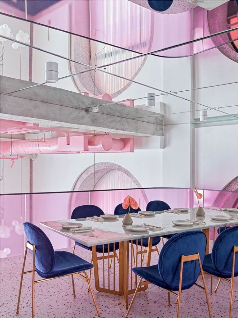 Dive Into A Pastel Pink World At The 'Dijon' Modern Restaurant modern restaurant Dive Into A Pastel Pink World At The 'Dijon' Modern Restaurant Dive Into A Pastel Pink World At The Dijon Modern Restaurant 7 768x1024
