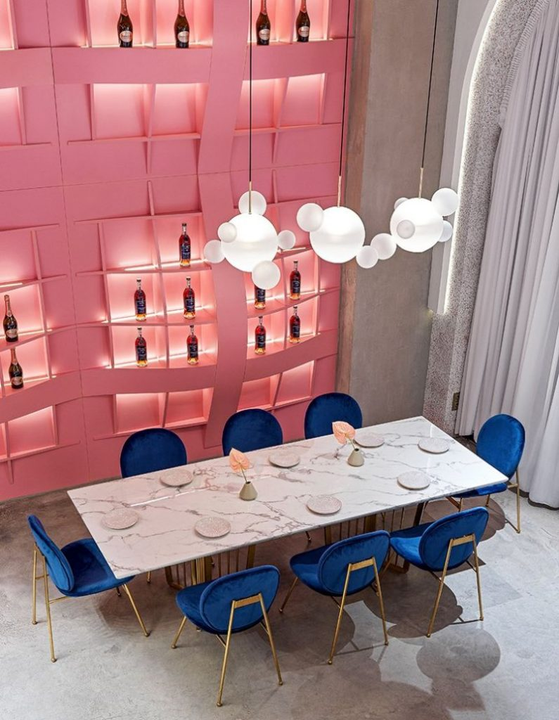 Dive Into A Pastel Pink World At The 'Dijon' Modern Restaurant modern restaurant Dive Into A Pastel Pink World At The 'Dijon' Modern Restaurant Dive Into A Pastel Pink World At The Dijon Modern Restaurant 8 795x1024