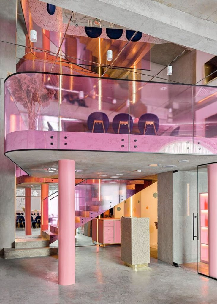 Dive Into A Pastel Pink World At The 'Dijon' Modern Restaurant modern restaurant Dive Into A Pastel Pink World At The 'Dijon' Modern Restaurant Dive Into A Pastel Pink World At The Dijon Modern Restaurant 9 731x1024