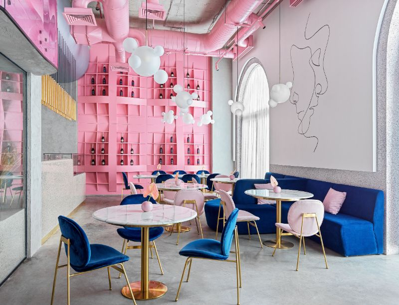 Dive Into A Pastel Pink World At The 'Dijon' Modern Restaurant modern restaurant Dive Into A Pastel Pink World At The 'Dijon' Modern Restaurant Dive Into A Pastel Pink World At The Dijon Modern Restaurant feature 1