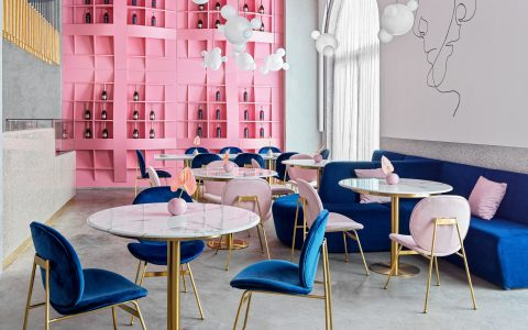 modern restaurant Dive Into A Pastel Pink World At The 'Dijon' Modern Restaurant Dive Into A Pastel Pink World At The Dijon Modern Restaurant feature 480x300