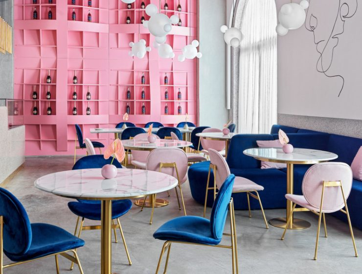 modern restaurant Dive Into A Pastel Pink World At The 'Dijon' Modern Restaurant Dive Into A Pastel Pink World At The Dijon Modern Restaurant feature 740x560