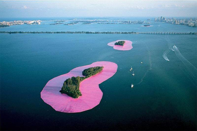 Unraveling The Story Behind Christo and Jeanne-Claude's Pink Islands christo Unraveling The Story Behind Christo and Jeanne-Claude's Pink Islands Unraveling The Story Behind Christo and Jeanne Claudes Pink Islands
