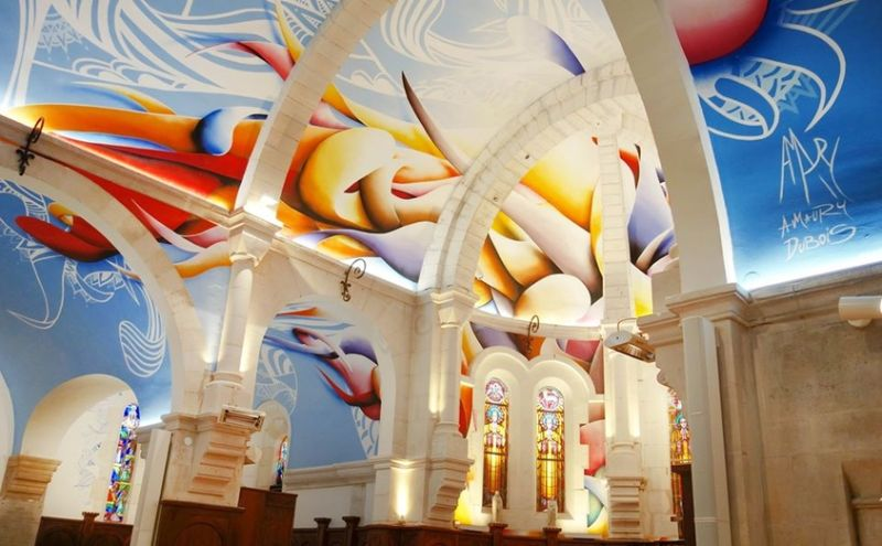 A French Church With A Street Art Approach Painted By Amaury Dubois amaury dubois A French Church With A Street Art Approach Painted By Amaury Dubois A French Church With A Street Art Approach Painted By Amaury Dubois feature 1