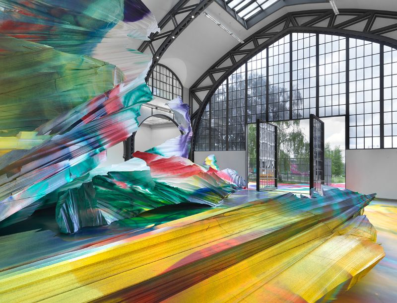 A Prismatic and Colorful Art Installation Sweeps Across a Berlin Museu art installation A Prismatic and Colorful Art Installation Sweeps Across a Berlin Museu A Prismatic and Colorful Art Installation Sweeps Across a Berlin Museu 4
