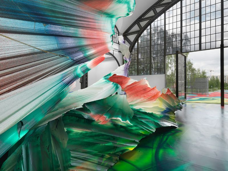 A Prismatic and Colorful Art Installation Sweeps Across a Berlin Museu art installation A Prismatic and Colorful Art Installation Sweeps Across a Berlin Museu A Prismatic and Colorful Art Installation Sweeps Across a Berlin Museu 7