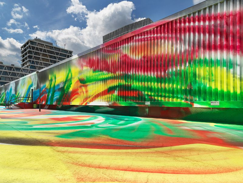 A Prismatic and Colorful Art Installation Sweeps Across a Berlin Museu art installation A Prismatic and Colorful Art Installation Sweeps Across a Berlin Museu A Prismatic and Colorful Art Installation Sweeps Across a Berlin Museu 8