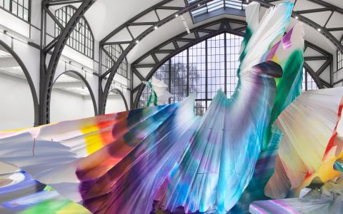 art installation A Prismatic and Colorful Art Installation Sweeps Across a Berlin Museu A Prismatic and Colorful Art Installation Sweeps Across a Berlin Museu feature image 480x300
